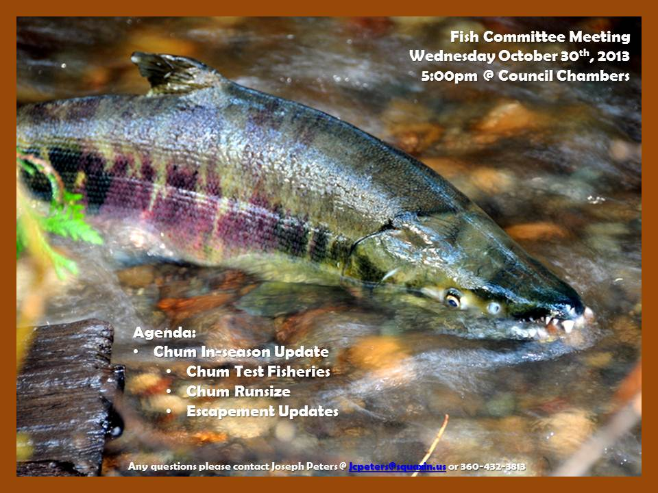 Fish Committee October 30th, 2013 Meeting Announcement